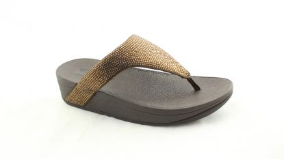 Fitflop Lottie Shimmercrystal Toe Post Bronze