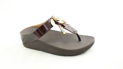 Fitflop Conga Dragongly toe post chocolate