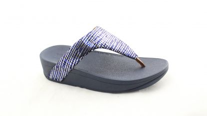 Fitflop Lottie Chain Print toe post black